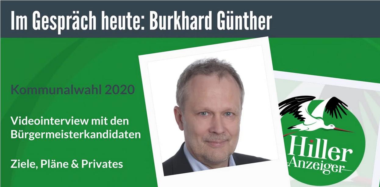 Burkhard Günther - Bürgermeisterkandidat im ersten Video-Interview