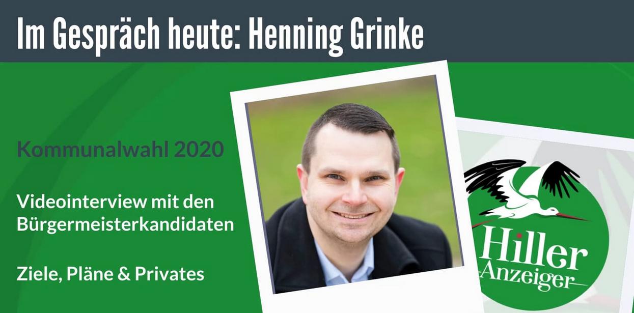 Henning Grinke - Bürgermeisterkandidat im ersten Video-Interview