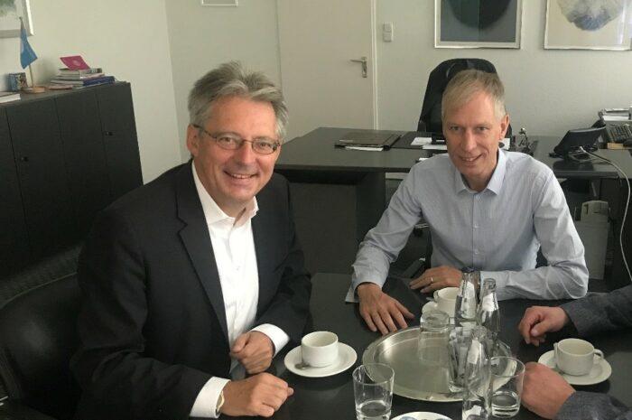 Achim Post und Frank Haberbosch: Lübbecker Hallenbad soll Bundesförderung erhalten