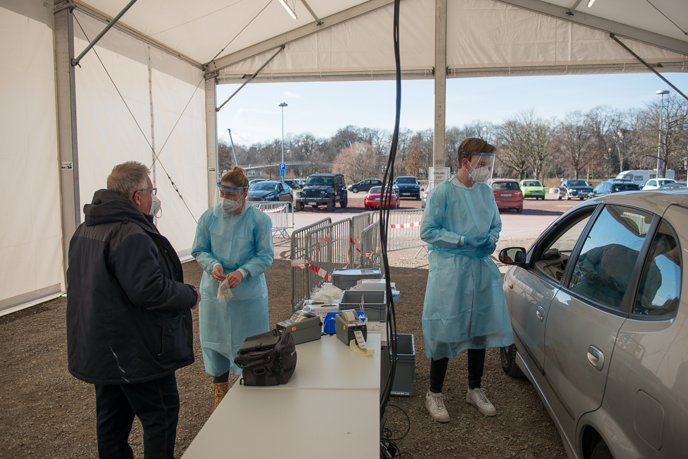 Fotohinweis: MKK/Sven Olaf Stange, Testzentren stehen auch Unternehmen zur Testung der Mitarbeiter*innen zur Verfügung