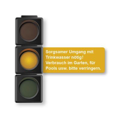 Trinkwasserampel gelb: Quelle Gemeinde Hille