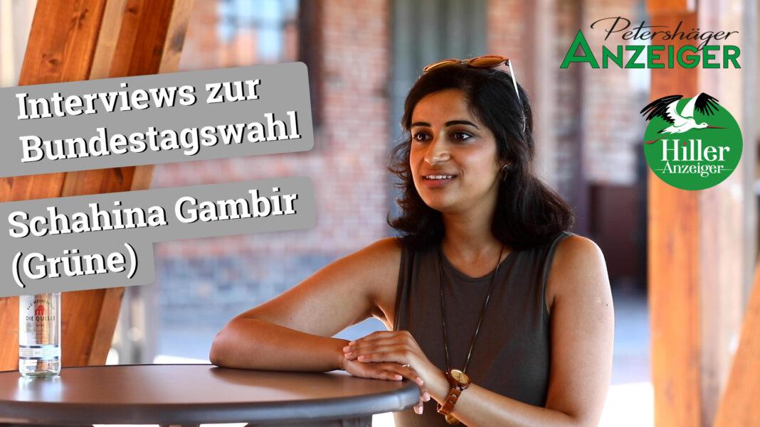 Interview zur Bundestagswahl 2021 mit Schahina Gambir (Grüne)