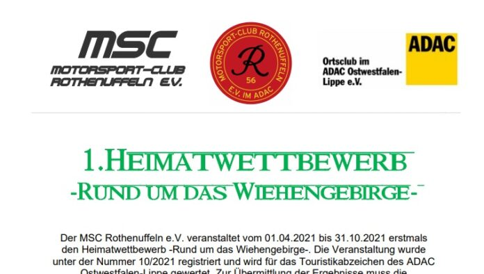 Heimatwettbewerb MSC Rothenuffeln