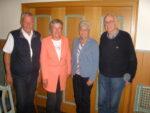 Foto v.l.: Kassenwart Jürgen Generotzky, Schriftführerin Martina Buhrmester, Vorsitzende Rosi Ullrich, stellvertretender Vorsitzender Gunther Meyer