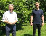 Achim Post und Leon Ekelhoff aus Bad Oeynhausen, der jetzt ein Jahr in den USA leben wird, Foto: privat